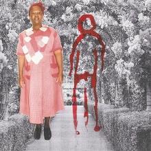Izithombe Zendawo Esizithandayo 1, Photography and drawing on paper, 29.5X42cm