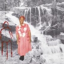Izithombe Zendawo Esizithandayo 3, Photomontage and pen on photocopy, 16x21cm