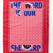 The word is our sheperd, Khanga textile and cotton embroidery, 155xx115 cm
