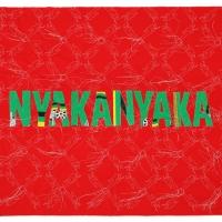 Nyankanyaka, Khanga textile and cotton embroidery, 148.5x115cm