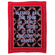 Blessed are the Poor in Spirit Embroidery on kanga 155x115cm 2018