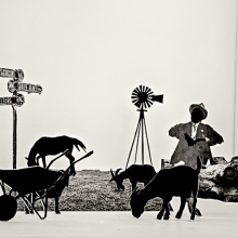 afronova gallery lebohang kganye Helen's father grazing his goats, 2018 Inspired by Maverick by Lauren Beukes and Nechama Brodie, Inkjet print on cotton rag paper, 64 x 90 cm, 2018, edition of 5