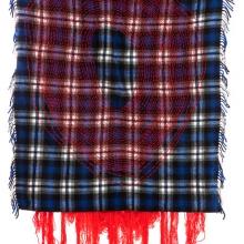 Failing, Verso, Wool on shawl, 132x120cm