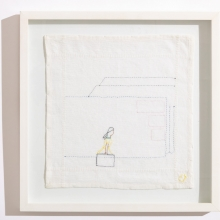 Untitled 5, Cotton embroideries on House Linen, 42X42cm