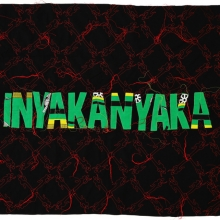 Inyakanyaka, Khanga textile and cotton embroidery, 148.5x115cm